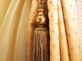 Curtains with ornaments